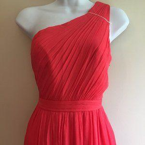 J Crew Kylie Long Silk Chiffon Dress